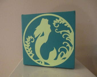 Mermaid Beach Sea Sign Shelf Sitter Home Decor Gift for Her Jenuine Crafts