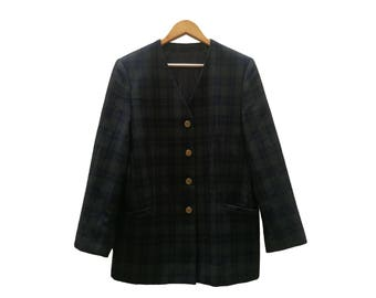 Checkered Vintage BLAZER//vintage clothing//oversized//trendy//vintage jacket//Jacket/vintage clothing/unisex/autumn/Americana
