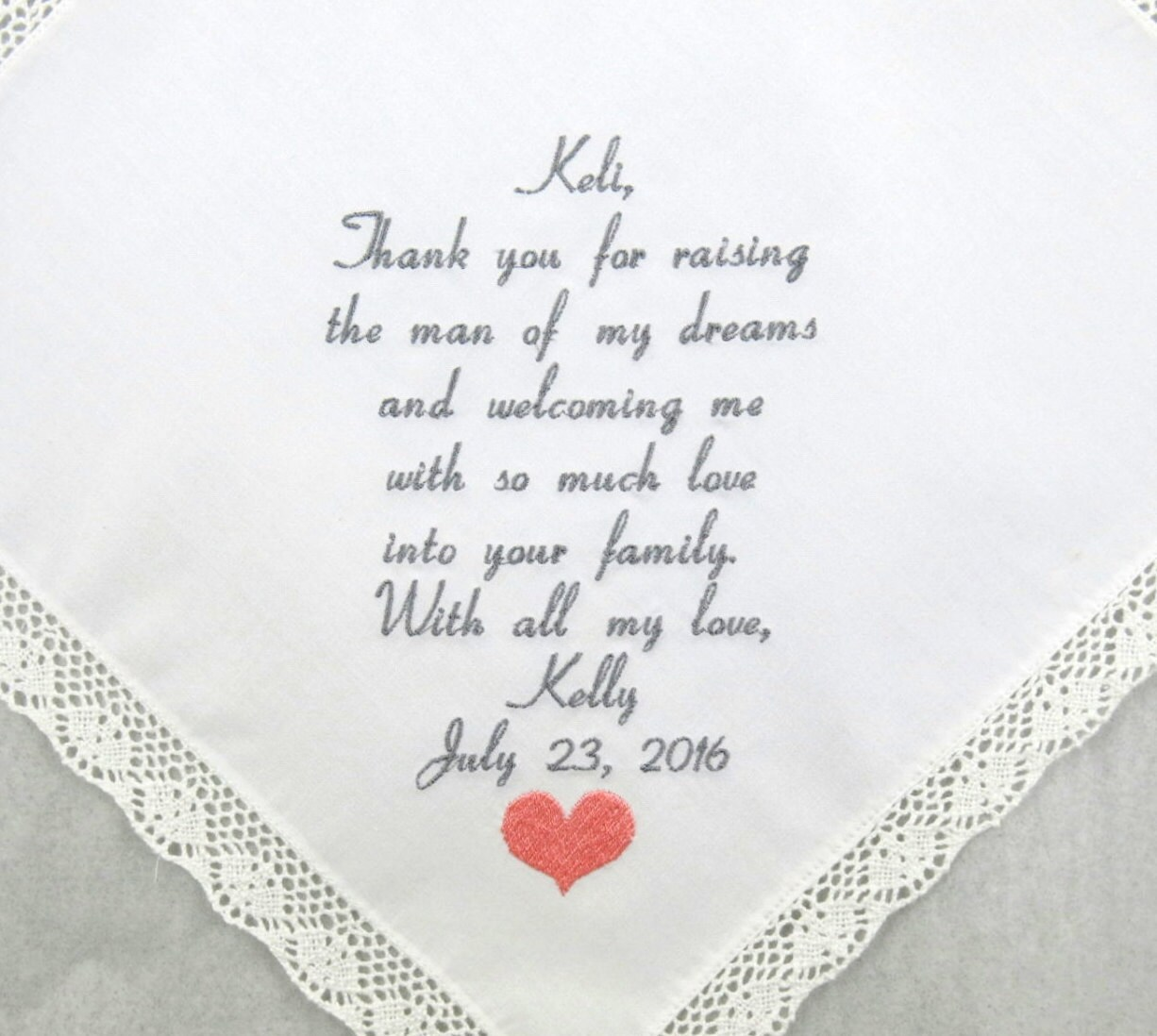 Mother of the groom gift Mother in law wedding gift