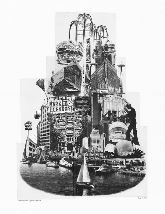 ON SALE!! -- Tower of Seattle - Art Poster Print