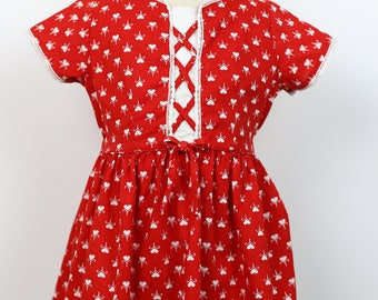50s HEART PRINT DRESS childrens