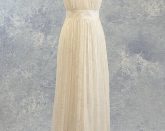 Beach Wedding Dress One Shoulder Silk Chiffon Simple SAMPLE SALE!