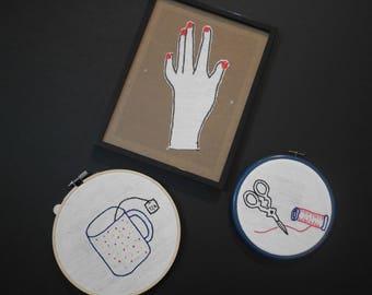 Broderie décorative Marie Claire Idées