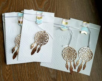 Sets of 20.  Embossed paper bags. party favors. Dreamcatcher. Goodie bags. Cookie bags. Flat white sacks. Tribal. Shabby chic
