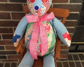 Patchwork quilt bear