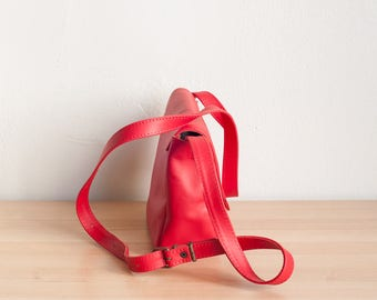 Red Leather Shoulder Bag, Valentines Day Gift, Red Bag, Small Crossbody Bag, Leather Satchel, Leather Shoulder Bag, Leather Crossbody Bag