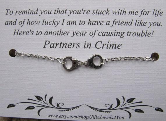 Besten Freund Geschenk Partner in Crime