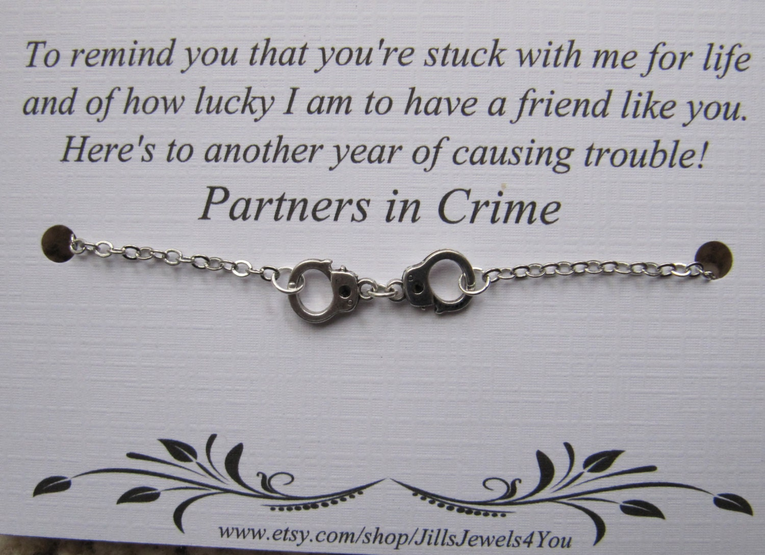 Quotes About Friendship And Distance Best Friend Gift Partners In Crime Friendship Bracelet