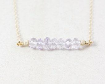 Pink Amethyst Necklace – 14K Gold Filled or 925 Sterling Silver