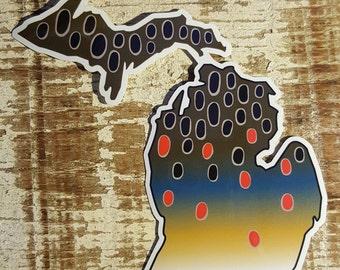 Michigan Brown Trout Sticker Decal