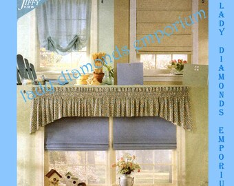 2) Simplicity 8353 Five Window Treatments, Classic Shades & Valances, Roman Shades, Jiffy Home Décor Sewing Pattern Uncut FF