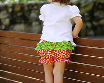 Ruffle Bloomers Pattern Tutorial Instructions - Sizes 12mo, 18mo, 2, 3, and 4