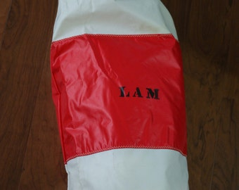 Vintage Red & White Sailing Bag for Sails