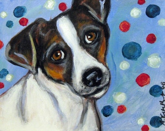 Jack Russell Terrier portrait original dog painting