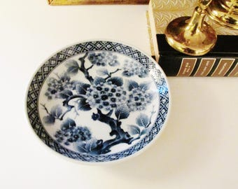 Chinoiserie Trinket Dish, Blue and White Decorative Catchall, Tablescape Decor, Palm Beach Chic
