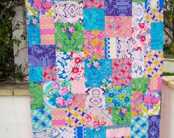Jennifer Paganelli Caravelle Arcade Patchwork and Minky Blanket