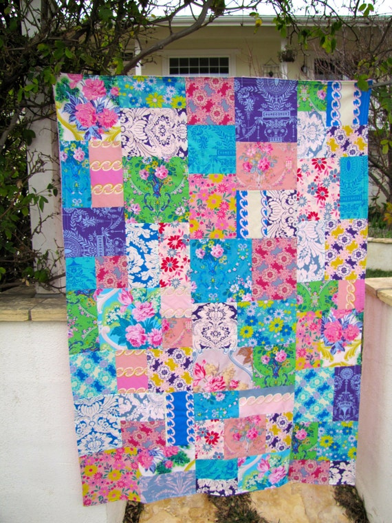 Jennifer Paganelli Caravelle Arcade Patchwork and Minky Blanket