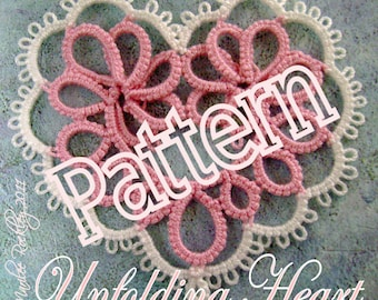 "Tatting Pattern ""Unfolding Heart"" PDF Instant Download"