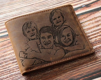 Personalized wallet for men, Perfect father's day gift, first fathers day, 1st father's day, gift from wife, gift for dad, from daughter