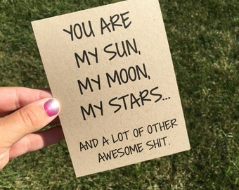 Funny Relationship Card / Funny Anniversary Card / Funny I love You card / Funny Valentine's Day Card / ldr card / love card / fiance card