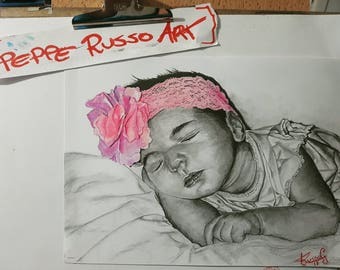 Little Girl pencil Portraits