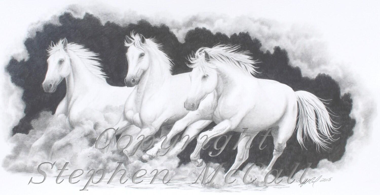 Favorito Stampa del disegno On the Run immagini cavallo JO71