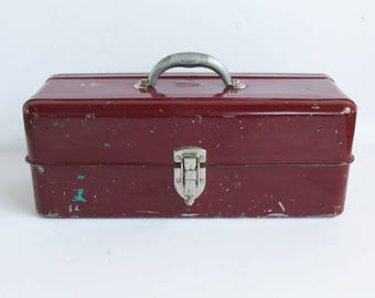 Mid Century Liberty Toolbox, Painter's Box, Tacklebox, Utility Box, Artist's Box