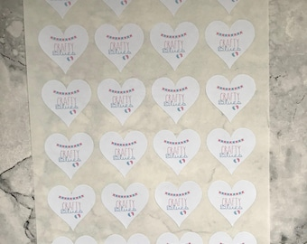 Heart Shaped Logo Stickers | Small Business Packaging