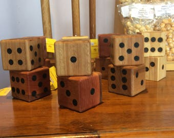 Large Recycled Timber Novelty Dice