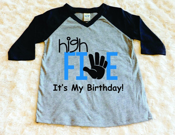 High Five It Birthday Toddler Shirt Boy Jpg 570x440 Logo
