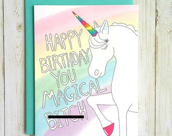 Funny Birthday Card, Unicorn Birthday Card, Birthday Card Funny, Birthday Card For Her, Unicorn Card, Best Friend Birthday Card,