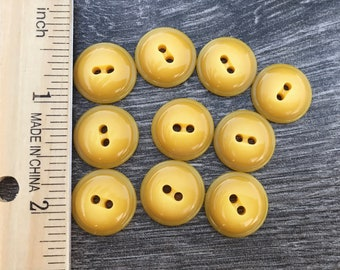 Lot of vintage buttons - yellow - gold