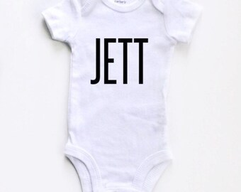 NAME BODYSUIT- bold, custom bodysuit, pregnancy announcement , monthly milestones, personalized baby gift, birth announcement,