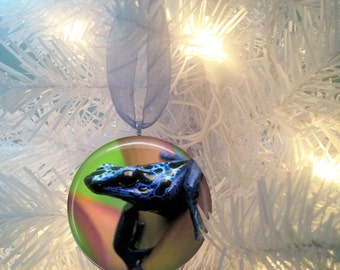Blue Frog #4 Christmas Tree Ornament