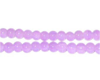 6mm Amethyst-Style Glass Bead, approx. 75 beads
