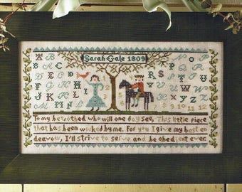 My Betrothed Sampler by Birds of a Feather Counted Cross Stitch Pattern/Chart