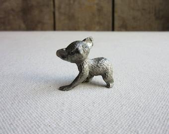 Miniature Vintage Pewter Koala Bear Figurine, Tiny Pewter Animals, Indigenous Australia, Koala Bear Baby, Koala Lovers, Gift, Animal Babies