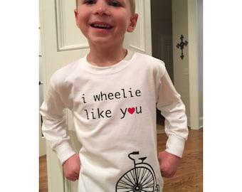 Valentine's Day Bicycle Tee