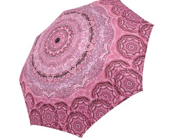 Artistic mandala-Assorted colors- Large  umbrella-parasol-rain umbrella-compact-innovative- Rain and sun- customizable--Handpainted design