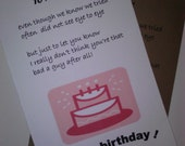 Items similar to ex husband birthday card handmade card birthday ex husband birthday card handmade card birthday cards greeting cards ex boyfriend birthday bookmarktalkfo Choice Image