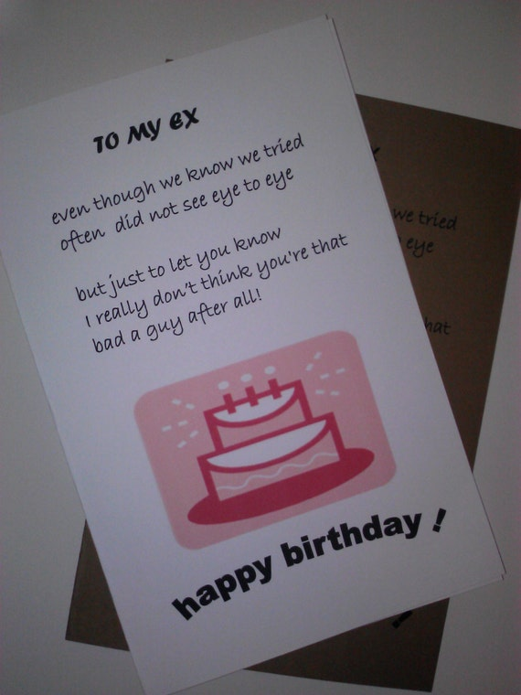 Items similar to ex husband birthday card handmade card birthday items similar to ex husband birthday card handmade card birthday cards greeting cards ex boyfriend birthday on etsy bookmarktalkfo Choice Image