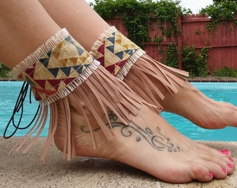 AubbieRoe Ankle Cuffs Tribal Ankle Cuffs