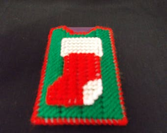 Plastic Canvas Christmas Stocking Gift Card Holder or Money Holder