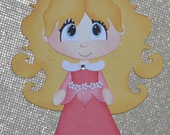 Disney Princess Sleeping Beauty Premade Scrapbooking Embellishment Paper Piecing