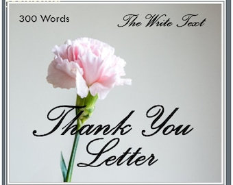 Thank You Letter 300 Words, Writing Service,