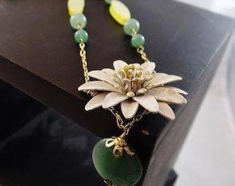 Chrysanthemum Vintage re-mix necklace