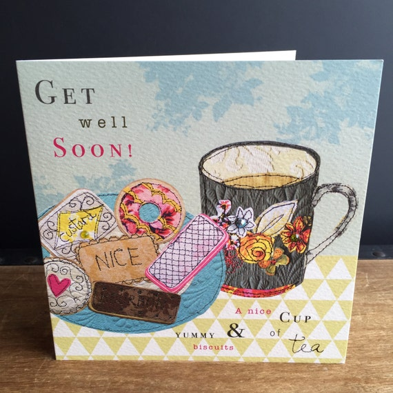 Get well-Greeting Card- handfinished