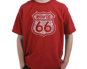 Boy's T-shirt -Route 66 - Get Your Kicks