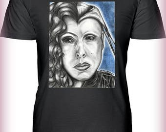 "Portrait T-Shirt : ""Hell Has No Fury"" - Valentina Vargas as Angelique Demon Princess Cenobite in Clive Barker Hellraiser"