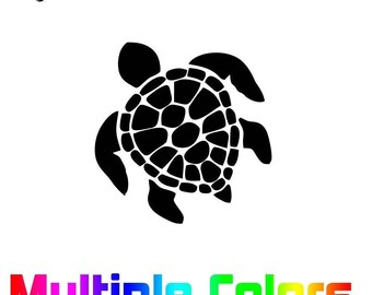 Sea Turtle sticker - Ocean Life durable outdoor vinyl decal Turtle Decal - Sea Turtle Gift